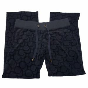 Y2K VTG Juicy Couture Monogram Print Velour Pants